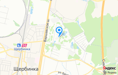 Местоположение на карте пункта техосмотра по адресу г Москва, д Щербинка, д 48А стр 2