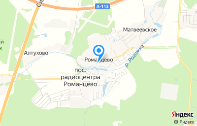Местоположение на карте пункта техосмотра по адресу Московская обл, г Подольск, д Романцево