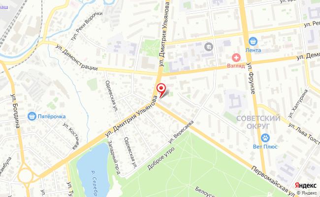 Карта расположения пункта доставки Тула Демонстрации в городе Тула