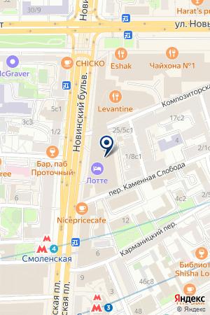 Адвокат Москва на карте Москвы