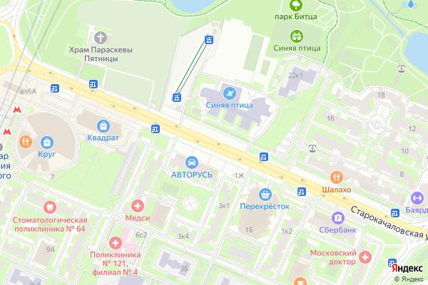 Ремонт телевизоров Улица Старокачаловская на яндекс карте