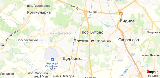 Новодрожжино на карте