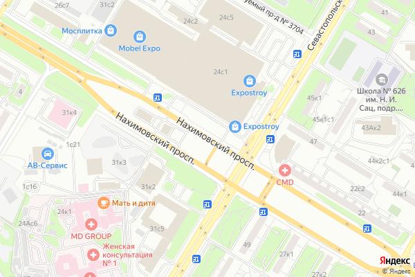 Ремонт телевизоров Нахимовский проспект на яндекс карте
