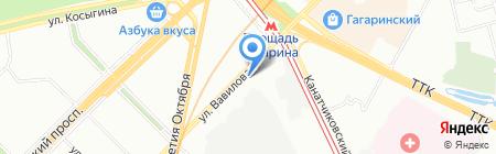 Евротур-Е на карте Москвы