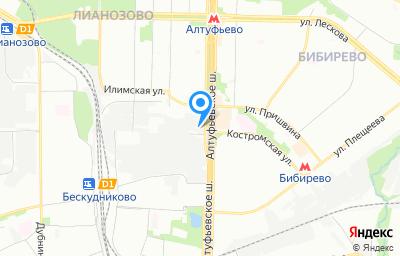 Местоположение на карте пункта техосмотра по адресу г Москва, ш Алтуфьевское, влд 81Б