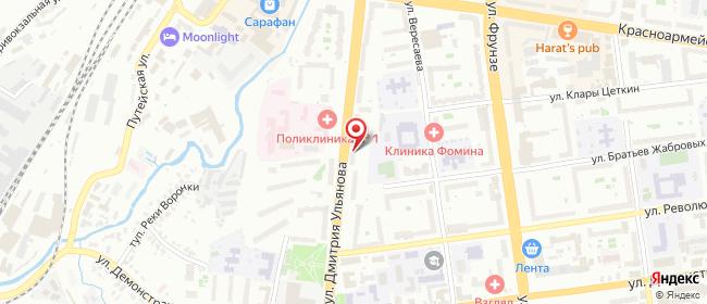 Карта расположения пункта доставки На Дмитрия Ульянов в городе Тула