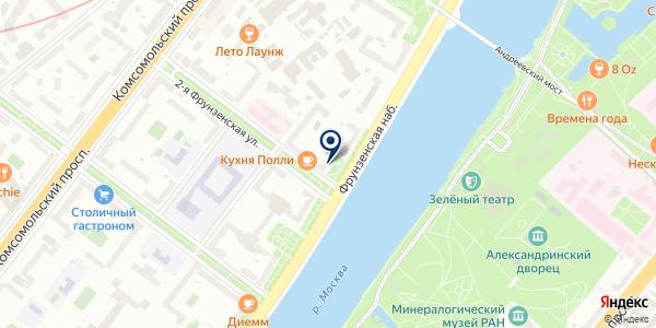 Октябрь на карте Москве