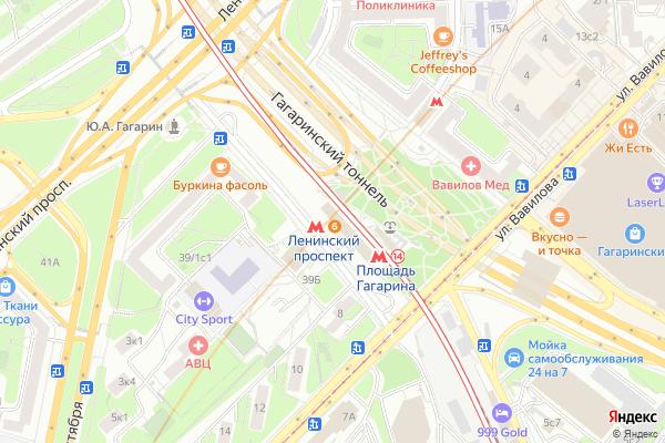 Ремонт телевизоров Метро Ленинский проспект на яндекс карте