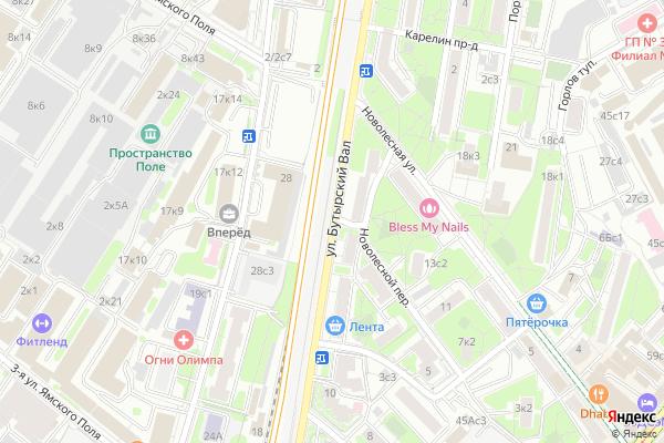 Ремонт телевизоров Улица Бутырский Вал на яндекс карте