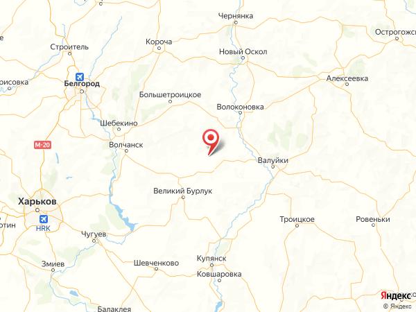 село Березники на карте