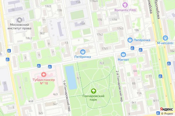 Ремонт телевизоров Улица Гончарова на яндекс карте
