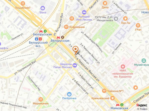 Остановка «Б. Грузинская ул.», 1-я Тверская-Ямская улица (1001961) (Москва)