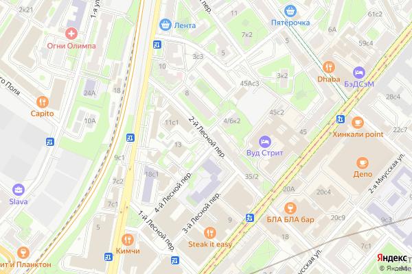 Ремонт телевизоров 2 й Лесной переулок на яндекс карте