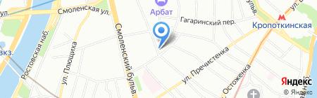 Домик быта на карте Москвы