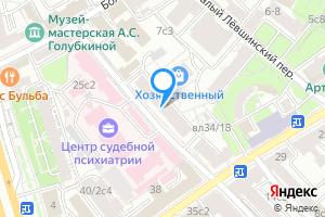 Сдается двухкомнатная квартира в Москве м. Парк культуры, Кропоткинский переулок, 20с1