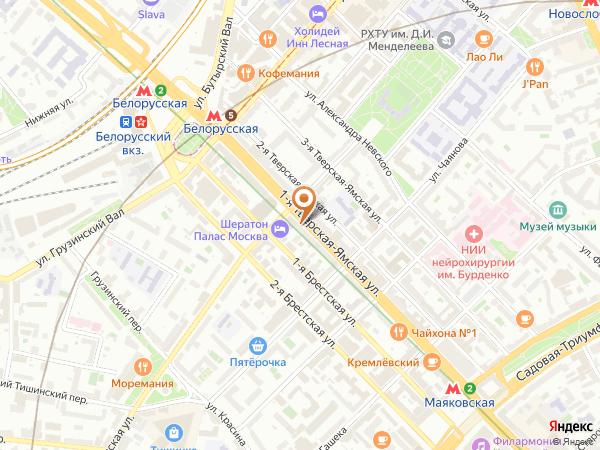 Остановка «Б. Грузинская ул.», 1-я Тверская-Ямская улица (1001962) (Москва)