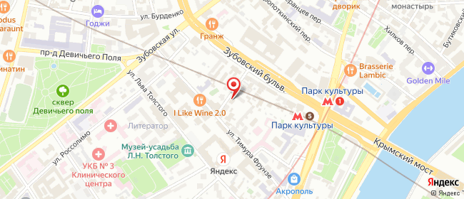 Карта расположения пункта доставки Москва Тимура Фрунзе в городе Москва