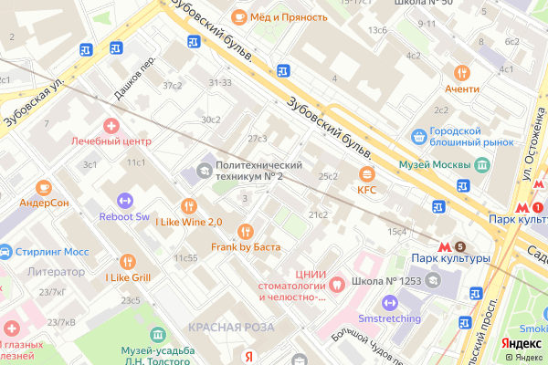 Ремонт телевизоров Зубовский проезд на яндекс карте