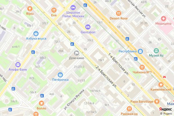 Ремонт телевизоров Улица 2 я Брестская на яндекс карте