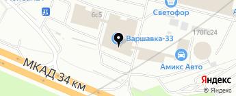 Магазин автокрасок на карте Москвы