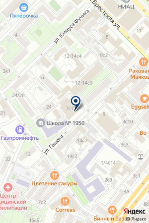 ЮРИДИЧЕСКАЯ ФИРМА FRESHFIELDS DERINGER на карте Москвы