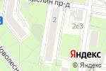 Схема проезда до компании ТрендСерв в Москве