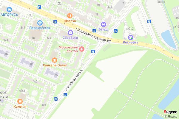 Ремонт телевизоров Улица Коктебельская на яндекс карте