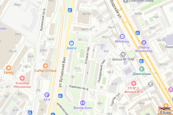 Ремонт телевизоров Угловой переулок на яндекс карте