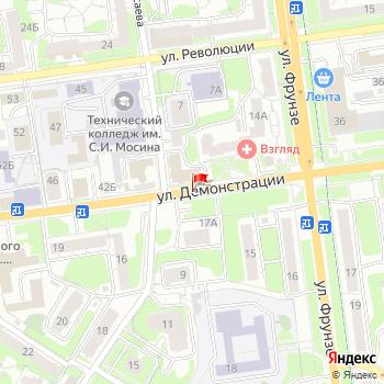 г. Тула, ул. Демонстрации, на карта