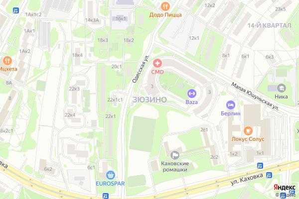 Ремонт телевизоров Район Зюзино на яндекс карте