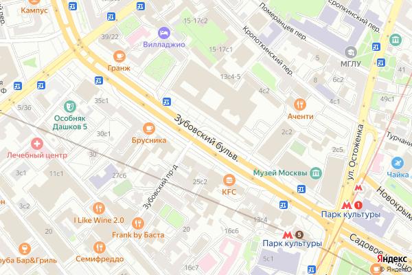 Ремонт телевизоров Зубовский бульвар на яндекс карте