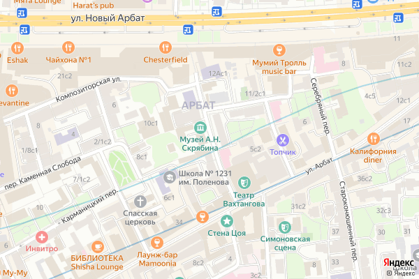 Ремонт телевизоров Большой Николопесковский переулок на яндекс карте