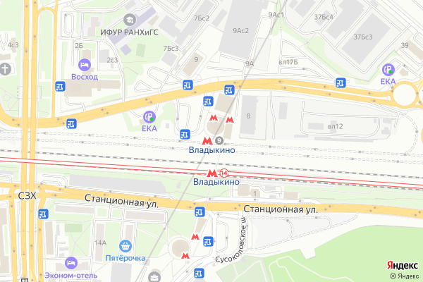 Ремонт телевизоров Метро Владыкино на яндекс карте
