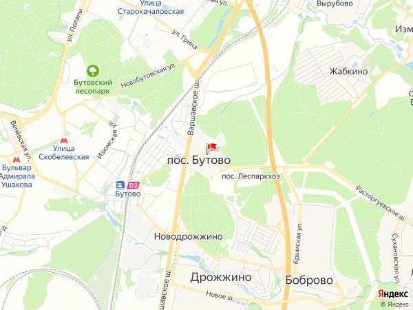 Карта населенный пункт Бутово
