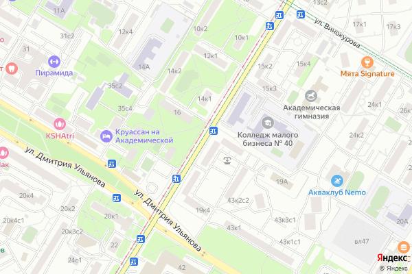 Ремонт телевизоров Улица Большая Черемушкинская на яндекс карте
