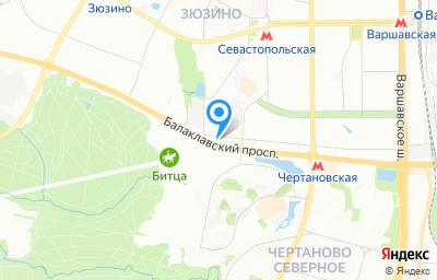 Местоположение на карте пункта техосмотра по адресу г Москва, пр-кт Балаклавский, д 26