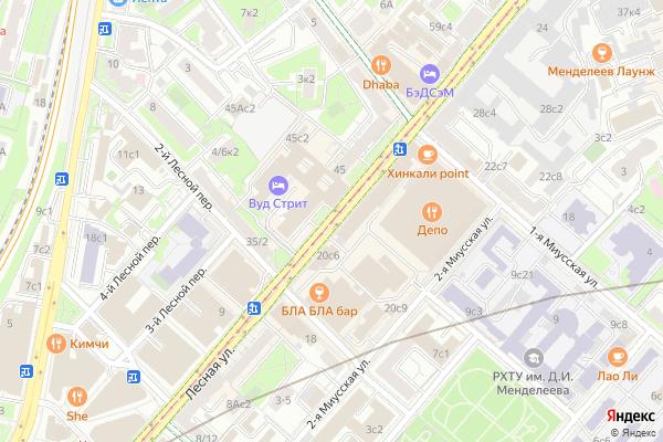 Ремонт телевизоров Улица Лесная на яндекс карте