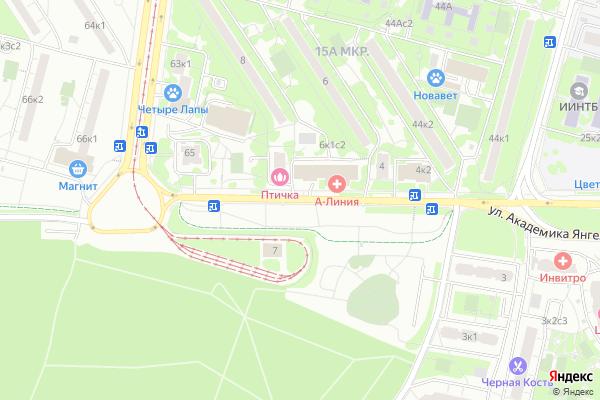 Ремонт телевизоров Улица Академика Янгеля на яндекс карте