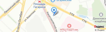 Серпуховской Двор на карте Москвы