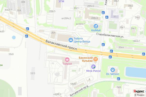 Ремонт телевизоров Балаклавский проспект на яндекс карте