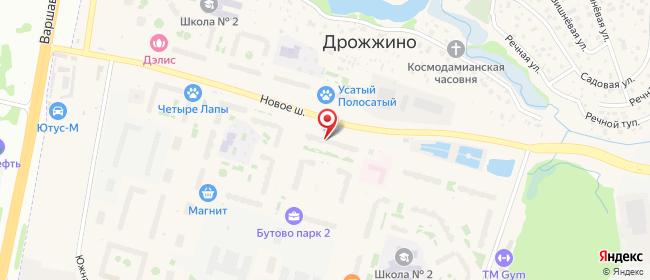 Карта расположения пункта доставки Пункт выдачи в городе Дрожжино