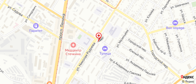 Карта расположения пункта доставки Тула Николая Руднева в городе Тула