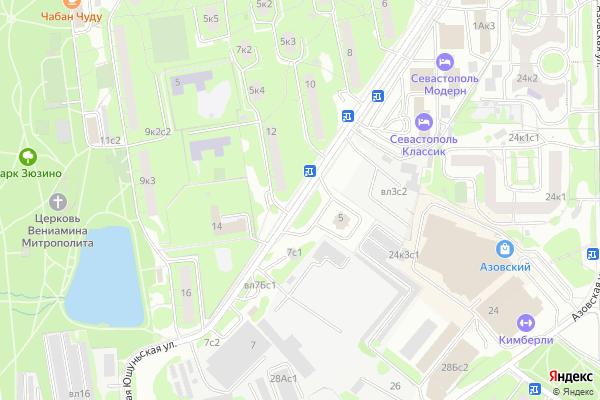 Ремонт телевизоров Улица Большая Юшуньская на яндекс карте