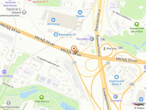 Остановка «Симферопольское ш.», 34-й километр Московской Кольцевой Автодороги (7920) (Москва)