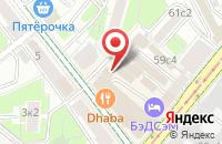 Схема проезда до компании Цех 1 в Москве