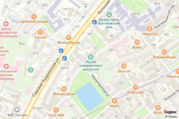 Ремонт телевизоров Ермолаевский переулок на яндекс карте