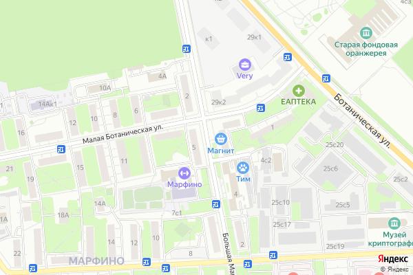 Ремонт телевизоров Улица Большая Марфинская на яндекс карте