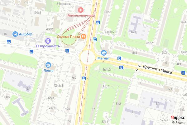 Ремонт телевизоров Улица Красного Маяка на яндекс карте