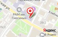 Схема проезда до компании Русское Информационное Бюро в Москве
