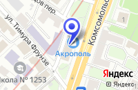 Схема проезда до компании EVITA PERONI в Москве